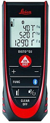 Leica Disto D2 New 330 Ft Laser Distance Measure With Bluetooth 4.0 Blackred