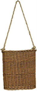 10-inch HANGING VINE BASKET Primitive Country Rustic Woven Home Wall Decor