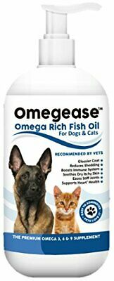 100 Pure Omega 3, 6  9 Fish Oil for Dogs and Cats - Best For Skin, Coat,