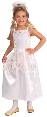 Angel Costume Halo Wings Dress Outfit Toddler or Child Small - Angel Toddler Costume