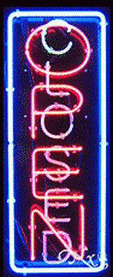 New Open Closed Vertical 32x13 Border Real Neon Sign Wcustomoptions 11012