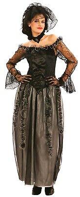 idowed Toten Braut Halloween Kostüm Kleid Outfit 10-14 (Tote Braut Halloween-kostüm Schwarz)