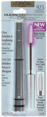 1pc Loreal Telescopic Mascara Clean Definition, BLKest BLK, 0.27-fl oz