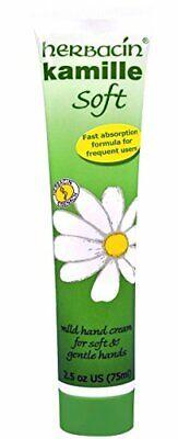 Herbacin Kamille Soft Hand Cream 75ml 2.5oz Tube, Pack of 1
