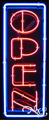 New Open 32x13x3 Vertical Border Real Neon Sign Wcustom Options 10319