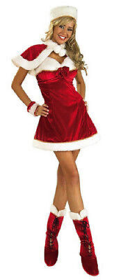 Costume Inspiration (Santa's Miss Inspiration Christmas Red Dress Holiday Costume 5pc Set ADULT)