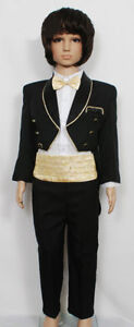 New-Boys-Black-Tuxedo-Dinner-Jacket-Suit-Set-6-24-Month