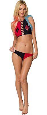 nn Hoher Kragen Bikini Trägertop Satz Schwimmen Badeanzug (Harley Quinn Kragen)