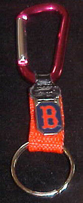 (Boston Red Sox Logo Carabiner  Key Ring NEW NICE)