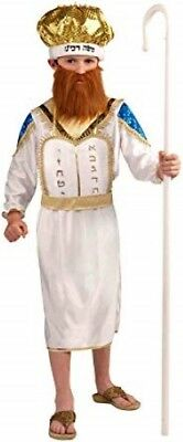 Moshe Kostüm Kinder (Moses) 3 Stück Weiß Robe Hals Stück & Hut Biblisch Kostüm - Kinder Moses Kostüm