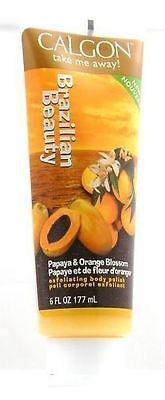 Calgon Papaya (2 Calgon Brazilian Beauty Body Polish - Papaya & Orange Blossom)