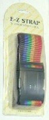 TWO Rainbow Luggage Straps with Combination Lock