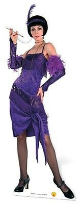Flapper Girl 1920's Cardboard Cutout Figure 170cm Tall- Great for themed Parties](Movie Themes For Parties)