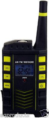 New Am Fm Noaa Weather Radio W  Audible Automatic Alert  Clock   Led Flashlight