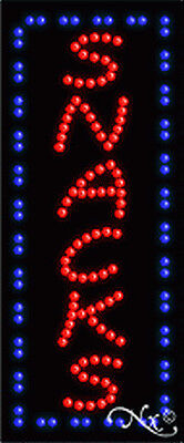 New Snacks Vertical 27x11x1 Solidanimated Led Sign Wcustom Options 21028