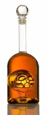 Skull Decanter in Bottler Skull Head by The Wine Savant 750ml Skull Bottle Sk...