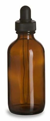6pieces 4 Oz Amber Boston Round Glass Bottles With Dropper Shrink Bands