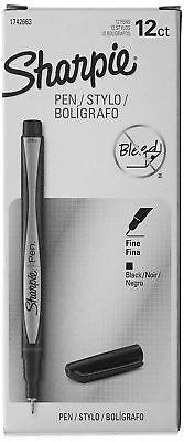 Sharpie Pen Fine Point Black 12-count New Free Shipping Marker