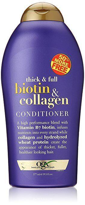 OGX Biotin & Collagen Thick Full Hair Shampoo, Conditioner a