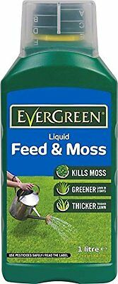 Scotts Evergreen Liquid Feed and Moss 1L 66.7m2 Kill Moss Thicken Lawn