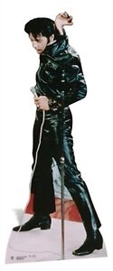 Elvis Presley The King Black Leather Suit Cardboard Fun Cutout Figure-184cm Tall