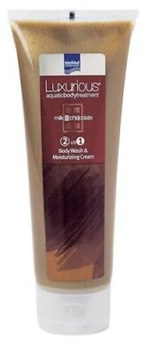 Chocolate Milk Body Wash - INTERMED LUXURIOUS 2 IN 1 BODY WASH & MOISTURIZING CREAM MILK CHOCOLATE 250ML