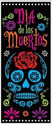 DAY OF DEAD HALLOWEEN party Scene Setter wall/door cover Dia De Los Muertos - Halloween Party Day