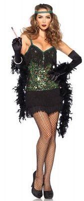 e Damen Gefedertes Flapper Pfau Party Halloween Kostüm 85442 (Damen Pfau Halloween-kostüme)