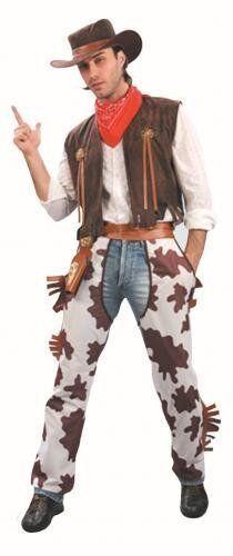 ADULT MENS WESTERN COWBOY FANCY DRESS COSTUME