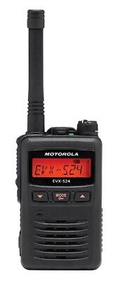 Motorola Solutions Evx-s24 Digital Dmr Analog Uhf 403-470 Mhz Radio Black