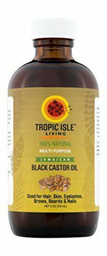 Tropic Isle Living Jamaican Black Castor Oil 4 oz Glass Bott