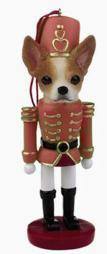 CHIHUAHUA TAN DOG CHRISTMAS ORNAMENT NUTCRACKER SOLDIER HOLIDAY 5 inch