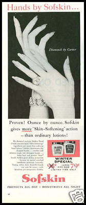 1960 vintage ad for Sofskin hand lotion