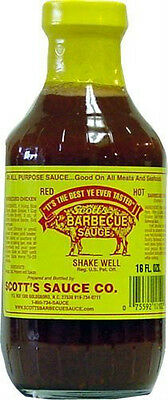 Scott's Spicy Barbecue Sauce 16 oz Sugar Free Fat Free No Carbs Carolina BBQ Carbs Bbq Sauce