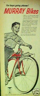 1961 Murray Bicycles(Twin-Tube)Boys Bikes Art Print AD