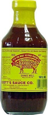 6 Pack Scott's Spicy Barbecue Sauce 16 oz Sugar Free Fat Free No Carbs (No Carb Bbq Sauce)