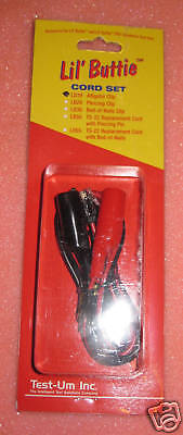 New Test-um Lil Buttie Alligator Clip Cord Set Lb10