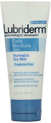 Lubriderm Daily Moisture Lotion Fragrance-Free 3 Ounce Tube