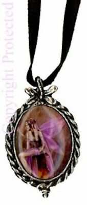 Amethyst Purple Cameo Choker Necklace Fairy Romantic Wings Cosplay Fantasy Art