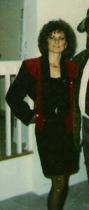 Classique 3 longueurs de jupes en suède noir+ bustier & manteau
