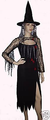 HALLOWEEN KOSTÜM Zombie-Braut GOTHIC VAMIRESSE VAMPIR-HEXE Dracula 36 40 - Halloween Hexe