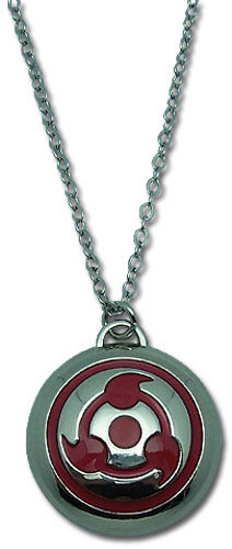 NARUTO Sharingan Symbol Metal Logo Necklace, NEW UNUSED BOXED