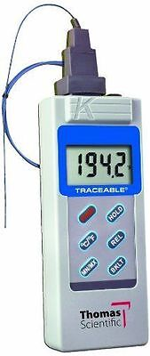 Thomas Traceable Big Digit Type K Thermometer -58 To 2000 Degree F -50 To 1300