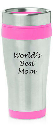 Stainless Steel Insulated 16oz Travel Mug Coffee Cup World's Best