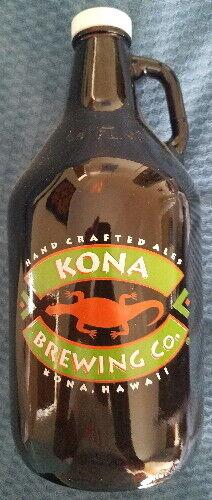 KONA BREW BREWING CO. HAWAII GLASS GROWLER BOTTLE 64 OZ