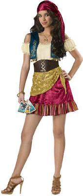 Teen Girls Gypsy Halloween Costume Brand New Incharacter Medium - Make Gypsy Costume