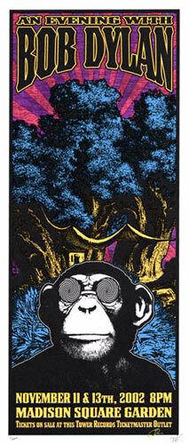 Bob Dylan Rare 2002 Madison Square Garden Silkscreen Poster ed 200 Scott Benge