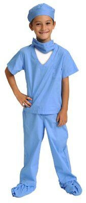 Aeromax Child Blue Jr. Doctor Costume Scrubs With Cap