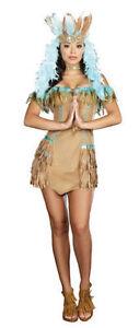 SEXY INDIAN NATIVE WOMEN FANCY DRESS  COSTUME  UK 6  8 10  WARRIOR yiwus 3430