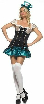 LEG AVENUE TEA PARTY PRINCESS MAD HATTER HALLOWEEN COSTUME Ladies / Womens 83398